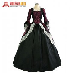 Colonial American Revolution Period Masquerade Vampire Victorian Dress Ball Gown Theatre Clothing