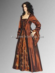 Renaissance Gothic style Dress Medieval Gown Brown Costume Handmade Multiple Colors Available
