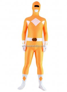Orange with White Lycra Costume