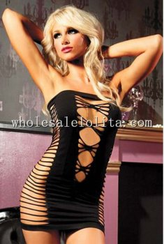 Stretch Mesh Strappy Satin Teddy