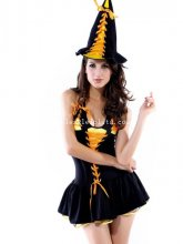 Halloween Sexy Backless Lady Witch Costume Dress