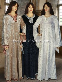 Women's Velvet Medieval Costume Dress Gown Handmade
