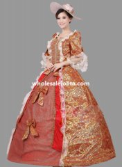 Historical Royal Court Floral Marie Antoinette Period Dress Theatre Clothing