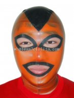 Latex Cosplay Costume Hood Gummi Mask Mix Color
