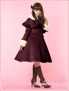 Hot Sale Burgundy Wool Hooded Sweet Lolita Coat