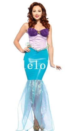 Halloween Adult Mermaid Cosplay Costume Party Dress
