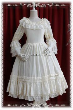 Infanta Elegant Chiffon Long OP Lolita Under Dress