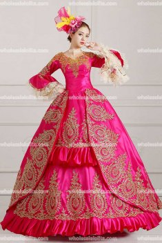 Classic 18th Century Marie Antoinette Inspired Dress Wedding Masquerade Gown Reenactment ROSE