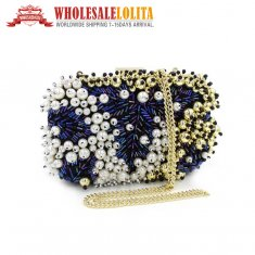 Hedgehog Hand Bag Dinner Bag Heavy Manual Nail Bead dress Handbag Shoulder Oblique Cross chain Bag