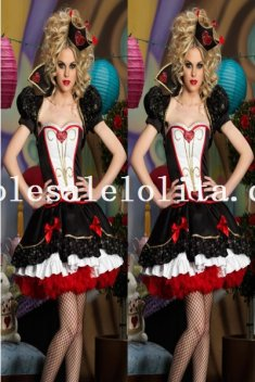 New Arrival Alice in Wonderland Queen of Hearts Halloween Costume