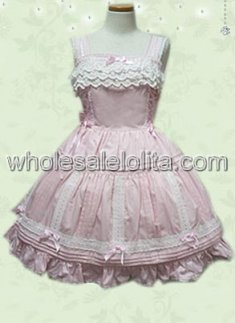 Likable Cheap Light Pink Sleeveless Sweet Lolita Dress