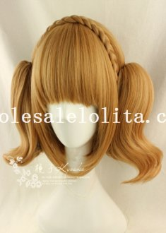 Cosplay Cute BOBO Curly Wig with Braids For Girls