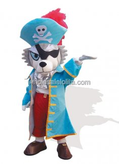 Adult Pirate Dog Mascot Costume