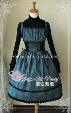 Magic Tea Party Bluish Green JSK Lolita