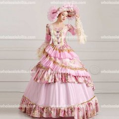 18th Century Rococo Style Marie Antoinette Inspired Prom Dress Wedding Ball Gown Light Pink