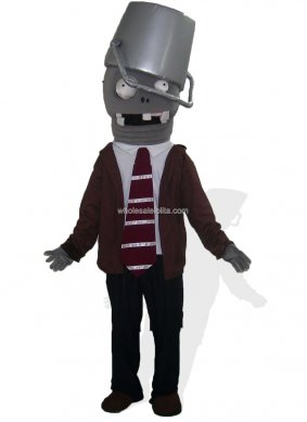 Holloween Bucket Zombie Mascot Costume