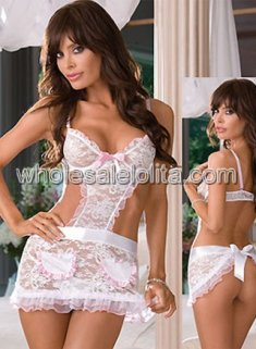 White Lace Sexy Wedding Teddy