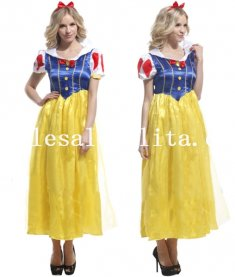 Disney Snow White Princess Long Dress Halloween Costume