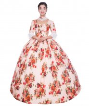 French Pink Baroque Victorian Dress Victorian Women Dress Period Dress Ball Gown