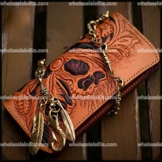 Vintage Manual Male Leather Purse High-grade Steampunk Hand Wallet