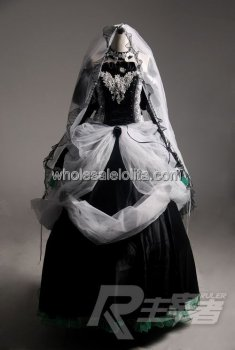 High-end VOCALOID MIKU Cosplay Costume Gothic Wedding Dress