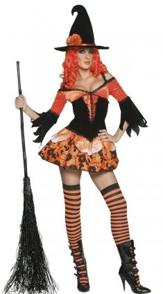 Gorgeous Off-the-shoulder Pumpkin Witch Costume