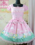 Happy Garden Printing Sweet OP Lolita Party Dress