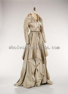 Custom Made Fall/Winter 1948 Mid 20th Century American Silk Evening Dress