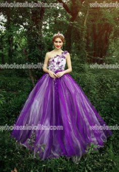 Fashion One Shoulder Performance Costumes Long Prom Dress