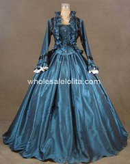 Civil War Victorian Satin Ball Gown Day / Evening Dress