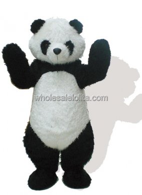 Black And White Plush Panda Mascot Costume for Adult