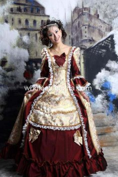Marie Antoinette Baroque Rococo A Line Prom Celebrity Evening Dresses