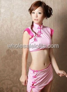 Melting Sexy Pink Cheongsam from China