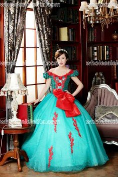 Classic Sky Blue Performance Costumes Long Prom Dress