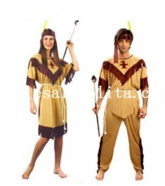 Halloween Couple Indian Cosplay Costume Masquerade Costume