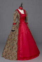 Victorian Renaissance Fair Dress Ball Gown Queen Theatrical Dresses