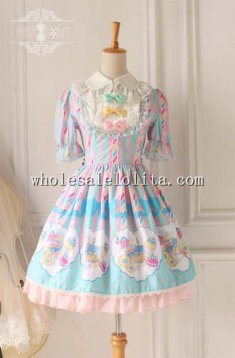 Sweet Dessert Printing Lolita Tea Party Dress OP