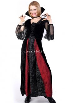 2014 Halloween Gothic Vampire Cosplay Costume Masquerade Dress