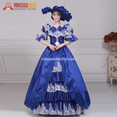 Women's Elegant Royal Decorated Jacquard Gown