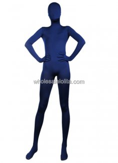 Dark Blue Full Body Lycra Spandex Zentai Suit