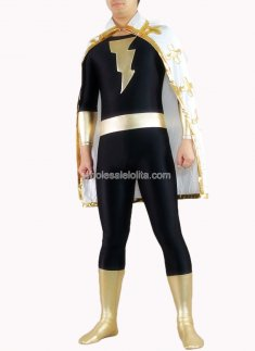 Black And Golden Shiny Metalic Superman Costume