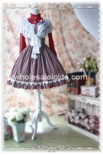 2013 Spring Red Vertical Stripes JSK Classic Lolita Dress