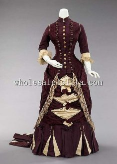 18th Century Historical Inspiration Dress Bustle Silhouette Dress