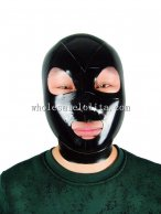 100% Handmade Latex Rubber Hood Mask AngelDis open eye mouth nose gummi #02003