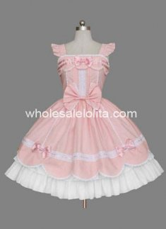 New Likable Cheap Multilayer Pink Cotton Sweet Lolita Dress