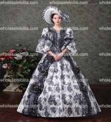 Victorian Southern Belle Princess Floral Ball Gown Dress Reenactment Theater Costume