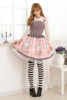 Pink Alice Princess Slim Sweet lolita Dress