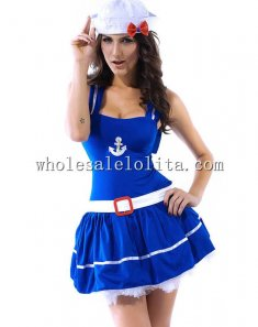 Sea Blue Lovely Sailor Pirate Costume