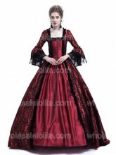 Red Masked Ball Gothic Victorian Costume Dress