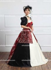 1800s Victorian Dress 1860s Civil War Day Gown and Ball Bodice